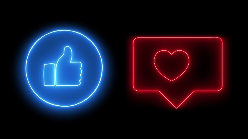 09 25 2019 Neon Symbol Of Social Media S Like Buttons Instagram