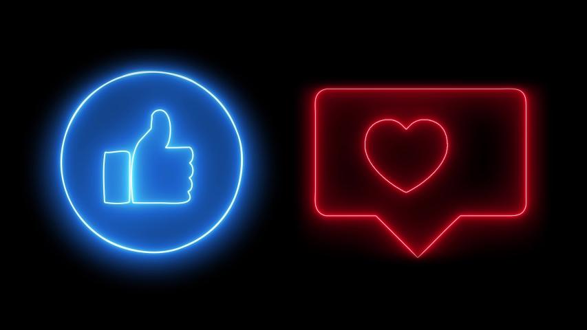 09 25 2019 Neon Symbol Of Social Media S Like Buttons Instagram