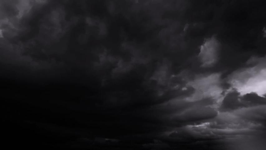 Dark Clouds And Lightning Storm Background   Shutterstock HD Video #1037991572