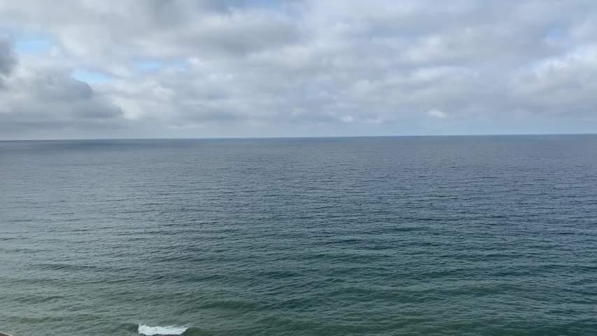 Moving surface and waves of cold baltic sea in stormy weather | Shutterstock HD Video #1038024164