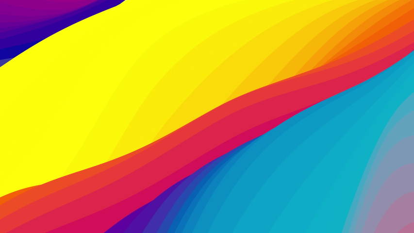 Looped animation. Abstract colorful wavy background in bright rainbow colors. Modern colorful wallpaper. 3d rendering.   Shutterstock HD Video #1038034826