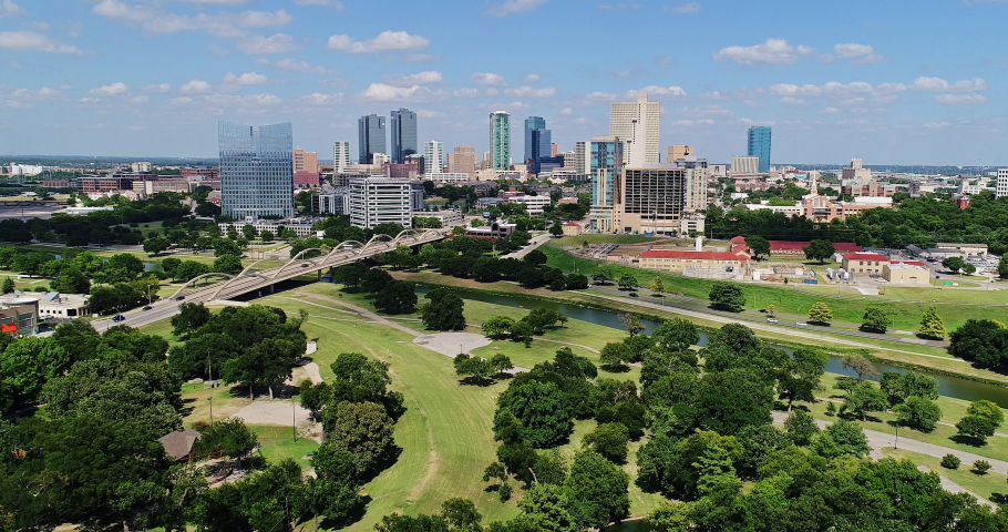 Downtown Fort Worth Daytime Aerial