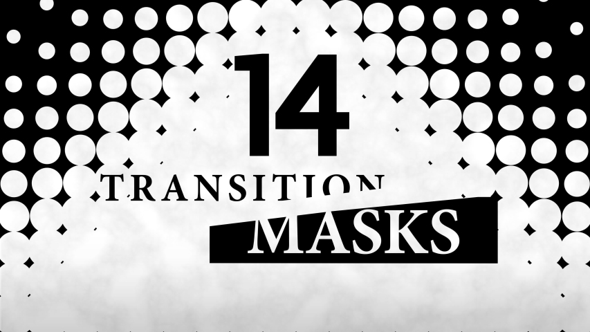 Transition Masks With a Moving Dots Pattern. 14 Versions of Modern Luma Mattes or Alpha Channels. Transition Black and White Masks Templates in 4K for Editing Footages. Royalty-Free Stock Footage #1038129002