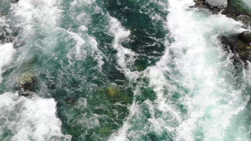 River Flow Nagara River Mino Gujo City Gifu Prefecture Japan Drone | Shutterstock HD Video #1038147878