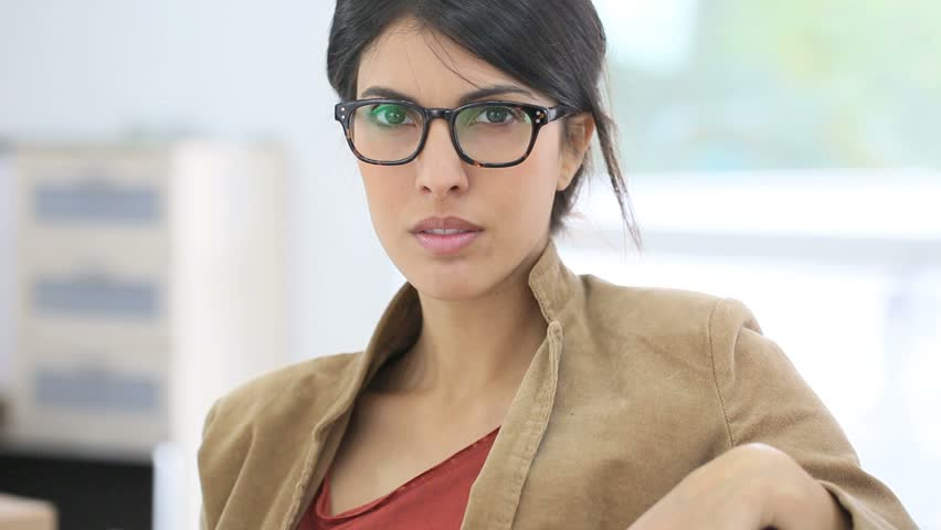 Young Smiling Working Woman with Stock Footage Video (100% Royalty-free)  10381541   Shutterstock