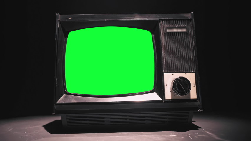 80s Television with Green Screen. 4k (UHD) | Shutterstock HD Video #1038163079