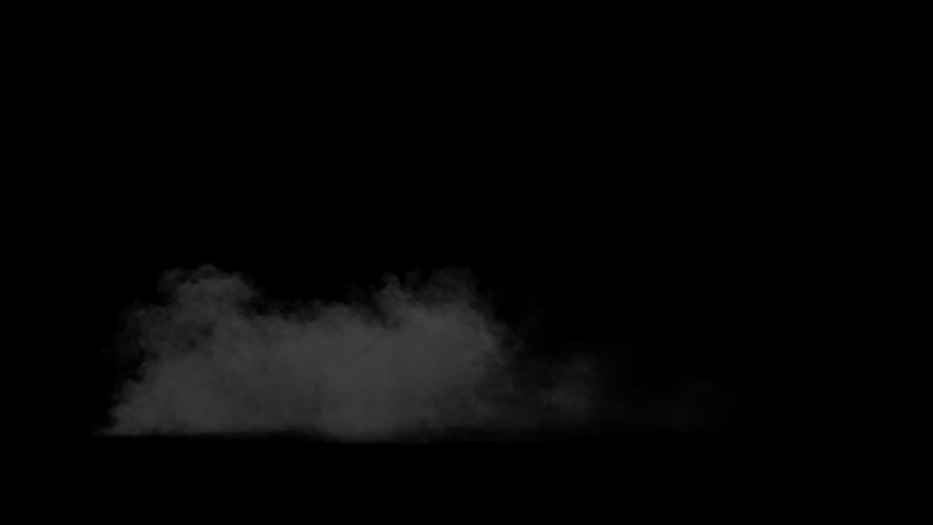 Fiery explosion with a rising cloud of smoke on a black background alpha channel | Shutterstock HD Video #1038172970