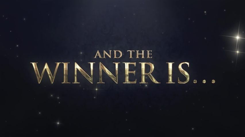 And the winner is… fancy gold text for award show