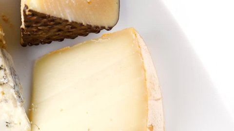 delicatessen cheeses on plate 1920x1080 intro motion slow hidef hd