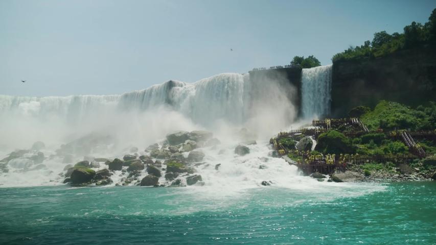 Majestic shot of Niagara falls