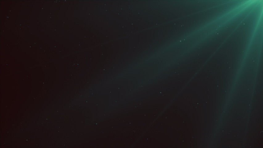 Dark underwater scene with light ray effect. It can be the reflection of sunlight, a submarine or a ship exploring the starry night space. Deep and serene seabed. Animation of the ocean abyss or sky.