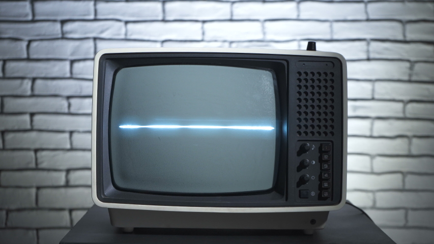 Video of retro tv and human's hands | Shutterstock HD Video #1038280025