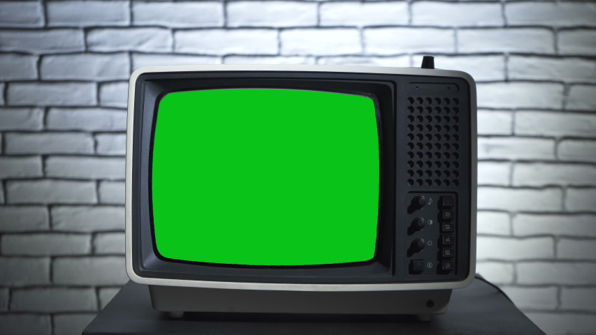 Video of turning on the retro tv with chroma key | Shutterstock HD Video #1038280028