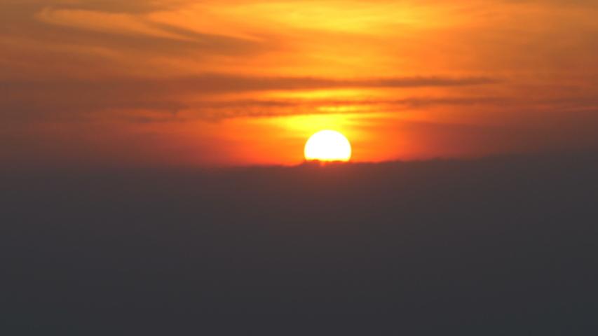 Beautiful scene of sunrise on sky  | Shutterstock HD Video #1038357977