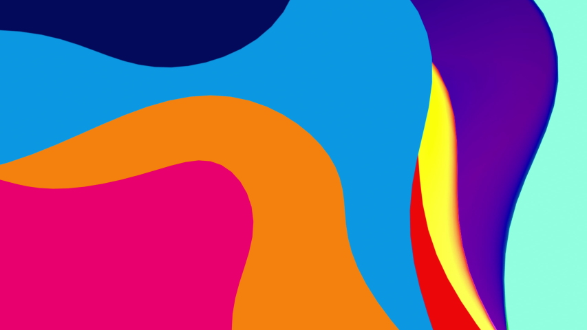Abstract colorful geometric background. Fluid gradient shapes with liquid shape and gradient. Trendy Bright colors. Colorful backgrpund, perfect for Kids children nursery design or summer soncept. | Shutterstock HD Video #1038367133