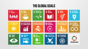 Motion Graphic Animation SDGs 17 Global Goals - United Nation Sustainable Development Clip for Non Profit Organization