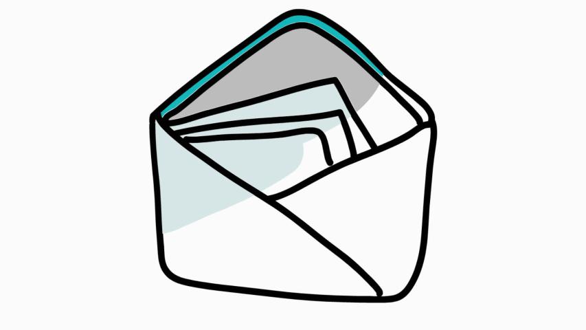 Vector art of Open Envelope image - Free stock photo