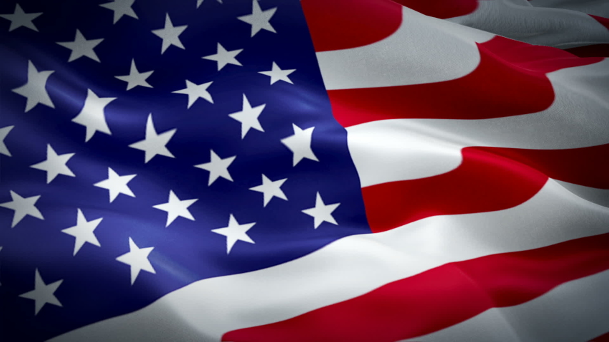 American flag video. 3d United States flag waving video. Sign of USA seamless loop animation. US United States flag HD resolution USA Background. USA flag Closeup 1080p Full HD video for Memorial Day