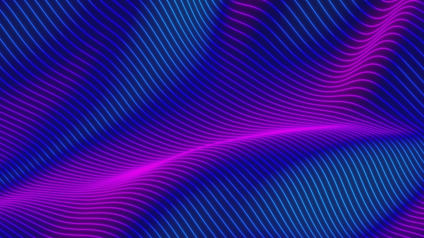 Looped animation. Abstract colorful wavy background in bright rainbow colors. Modern colorful wallpaper. 3d rendering.