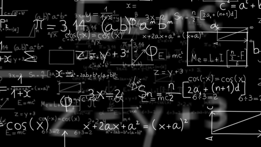 Camera Through Math and Equation, seamless loop in 15 seconds. Royalty-Free Stock Footage #1038504017