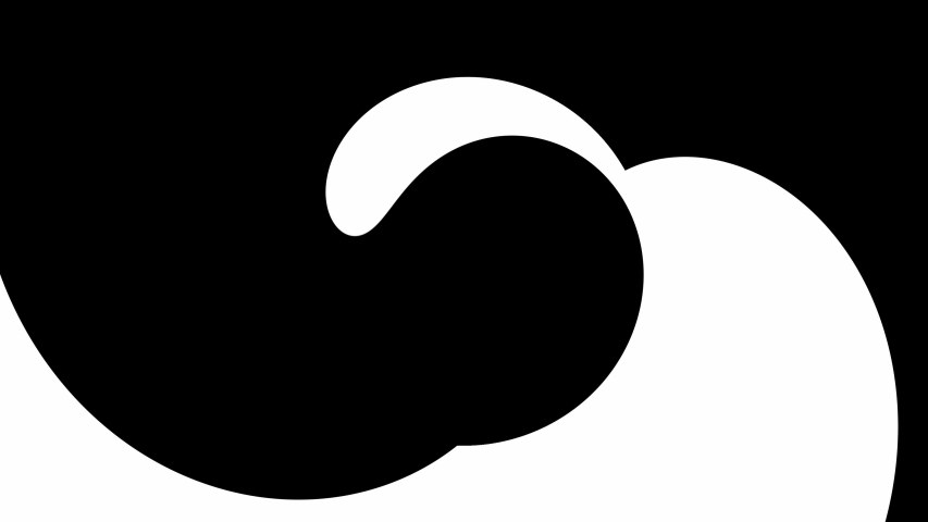 Transition reveal mask sweep of yin and yang symbol effect with simple black and white color. Abstract CGI motion graphics animated transition mask template.    Shutterstock HD Video #1038508151