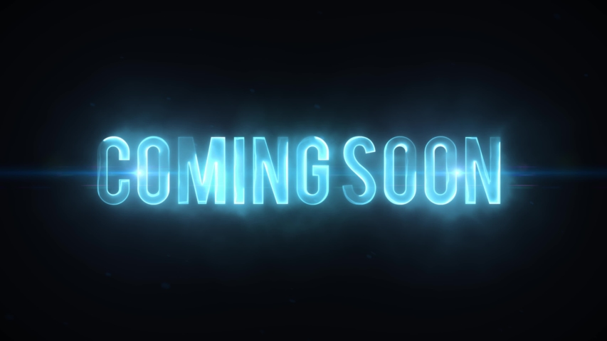 Scifi Movie Trailer Coming Soon Text Reveal/ 4k scifi movie style background with coming soon lighting text reveal like for cinema trailer