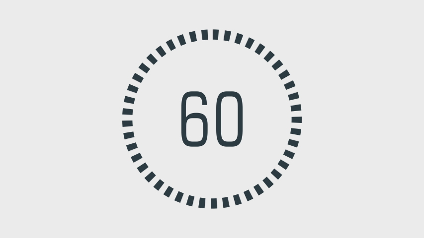 Countdown One Minute Animation From Stock Footage Video 100 Royalty Free 1038549461 Shutterstock