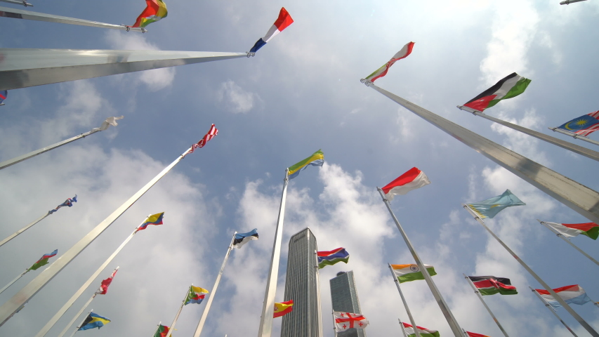 Many world flags Many world flags