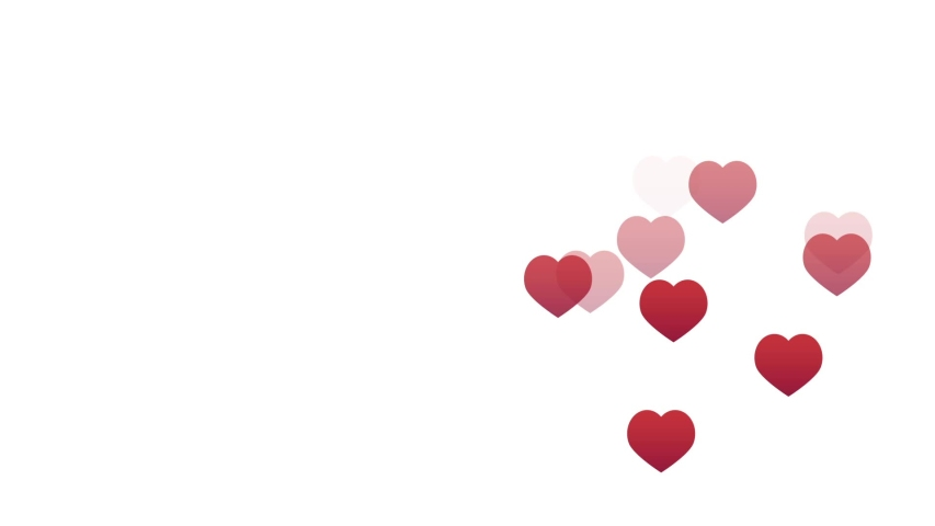 Red hearts isolated on white background move up video motion | Shutterstock HD Video #1038607943