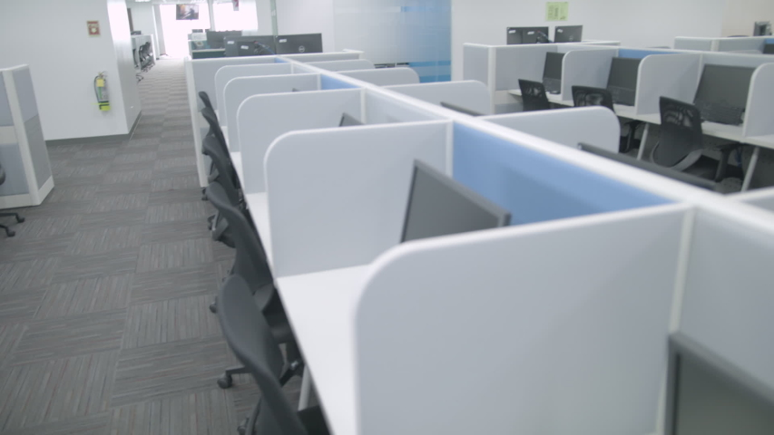 Fresh And Modern Corporate Office Space - Desk And Chairs