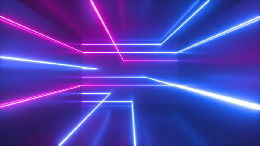 Pink Blue Neon Abstract Background. Stock Footage Video ...