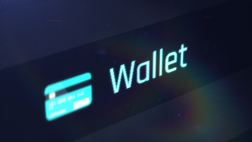 Online wallet, accessing bank account online, financials, mobile banking. Computer screen close-up Royalty-Free Stock Footage #1038790016