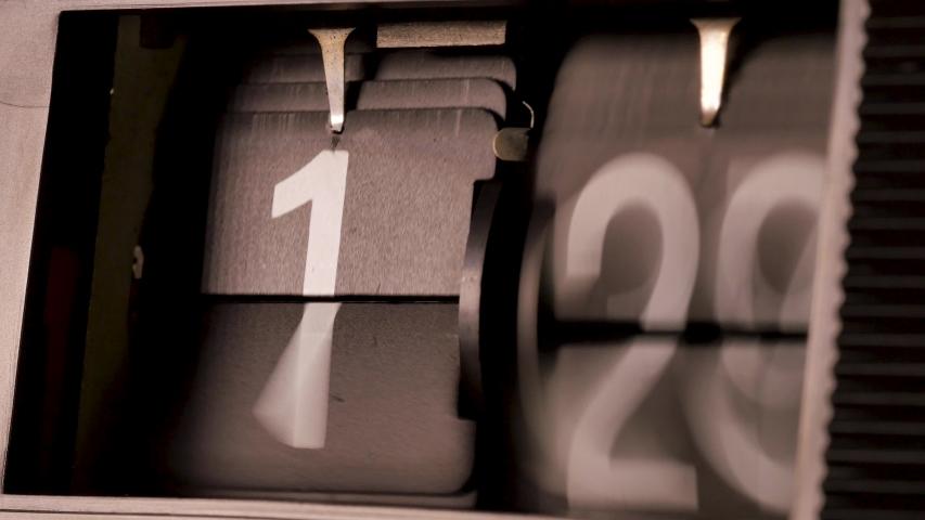 Flip Vintage Retro Alarm Clock timelapsing time