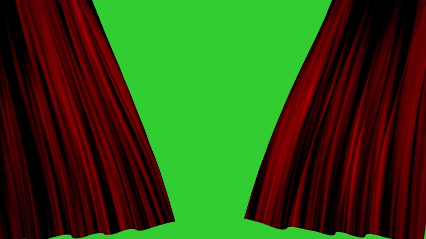 Red curtain opening with green screen background | Shutterstock HD Video #1038808520