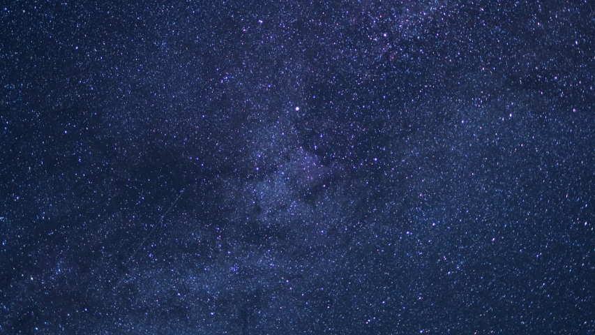 Milky Way Galaxy Spring North Sky 50mm Sunrise Time Lapse  | Shutterstock HD Video #1038842879