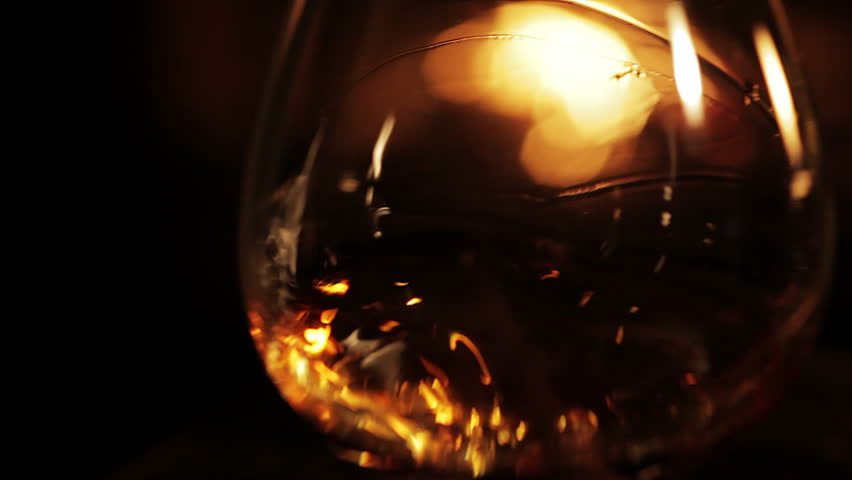 Glass of brandy.Closeup.