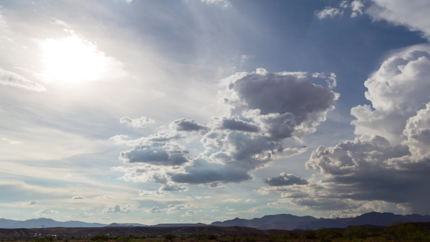 A cool cloud formation as storms were trying to fire during monsoon season in Clifton, Arizona.