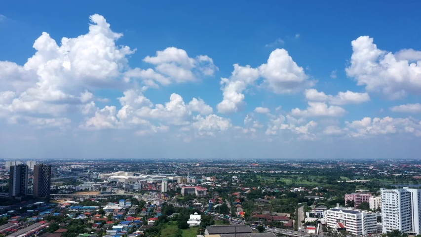 Beautiful clear blue sky with white clouds background. Time lapse clouds 4k rolling puffy cloud movie. high beautiful cloud space weather beautiful blue sky glow clouds background. Royalty-Free Stock Footage #1038895340