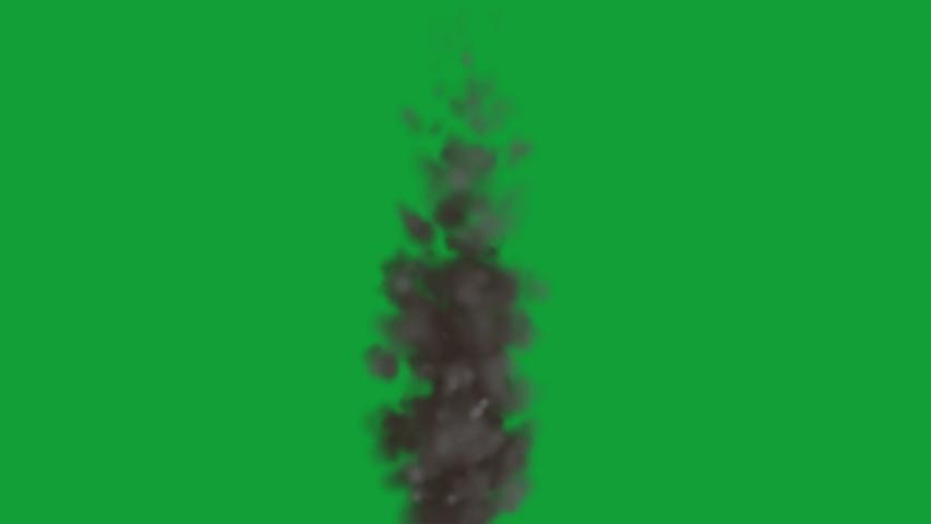 Dark smoke effect on the green screen  | Shutterstock HD Video #1038897107