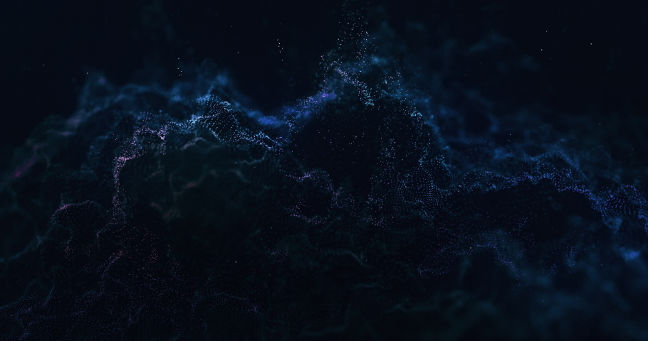 Video of abstract particles wave 4k | Shutterstock HD Video #1038897638