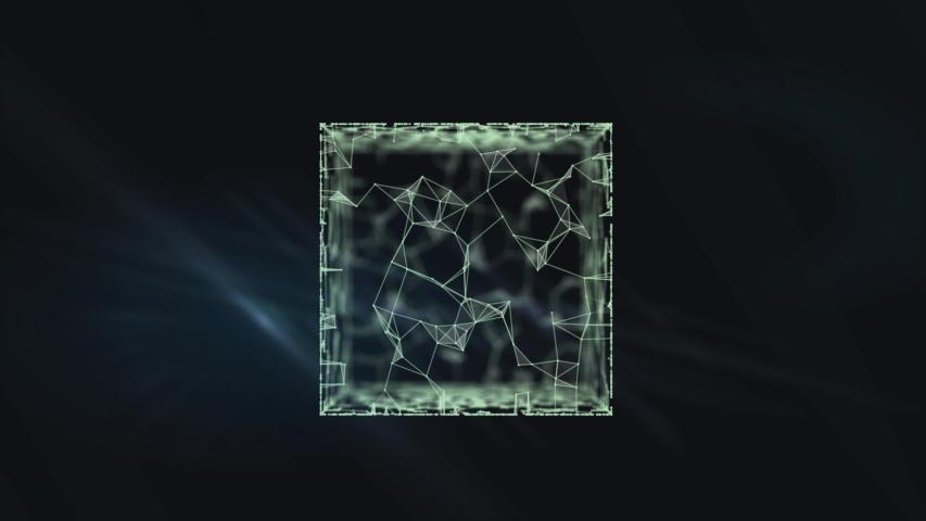An extravagant cube form of artifact - mysterious Pandora's box. | Shutterstock HD Video #1038957875