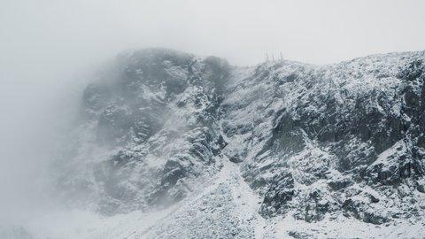 The Valdresflya mountain area shot with handheld look