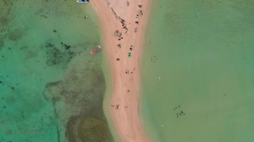 Island beach and sea from an aerial shot | Shutterstock HD Video #1039001528