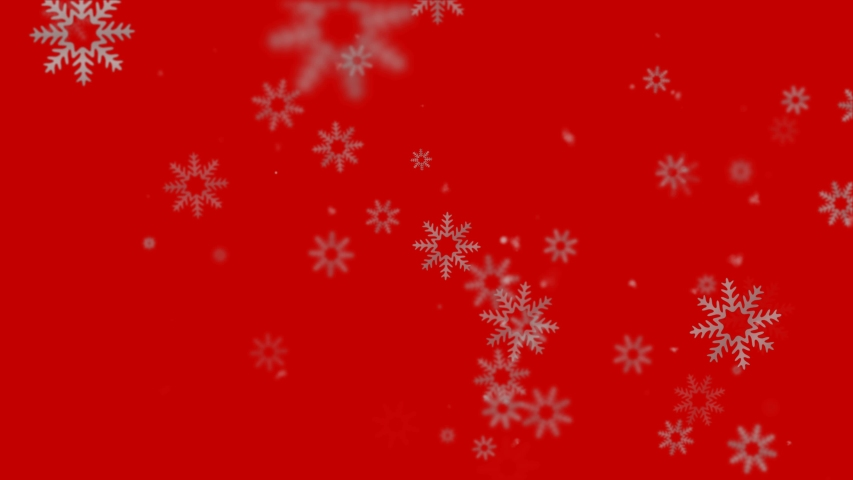 Looped beautiful Christmas background with moving snowflakes and snow. Seamless Christmas festive background. | Shutterstock HD Video #1039121609