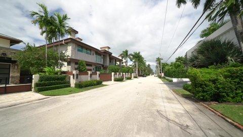 FORT LAUDERDALE, FL, USA - OCTOBER 14, 2019: Upper class mansions Florida USA