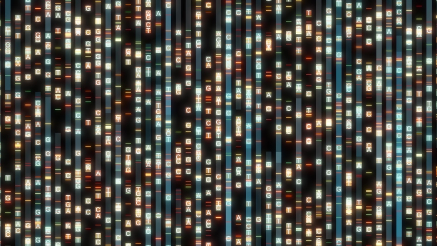 DNA sequencing the bases of a fragment of DNA Abstract background #1039140326