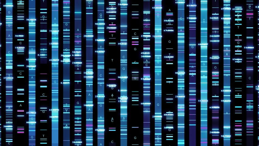 Biotechnology dna sequence genomic analysis visualization | Shutterstock HD Video #1039140329