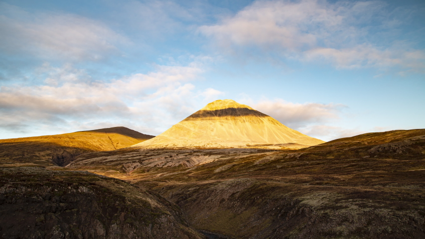 Barren volcanic landscape light and shadows time lapse Iceland.mov  | Shutterstock HD Video #1039143536