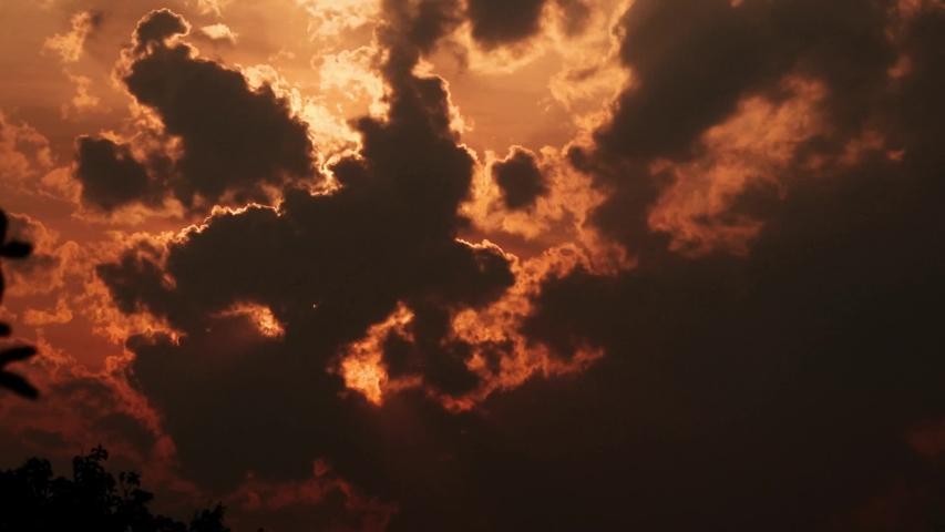 TIME LAPSE SUNSET CLOUD DARK IN THE SKY | Shutterstock HD Video #1039144025