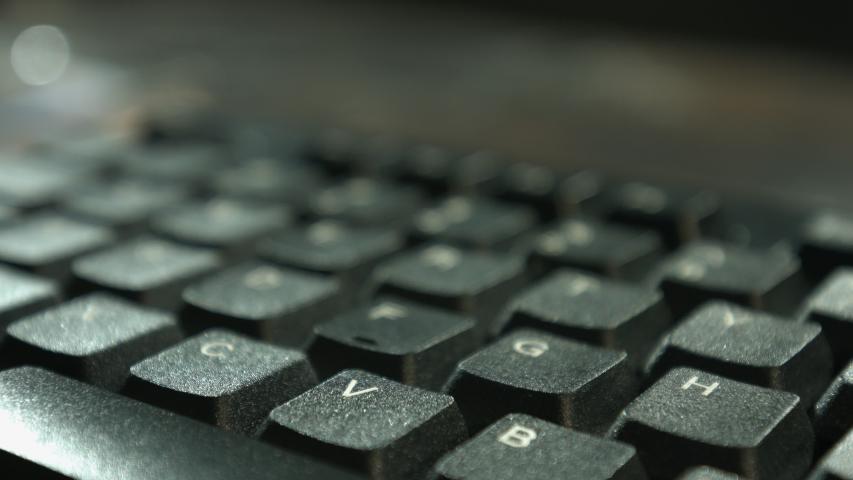 Conceptual online learn idea, keyboard keys 4k   Shutterstock HD Video #1039153097